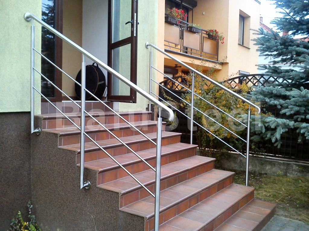 poręczna balustrada ze stali nierdzewnej